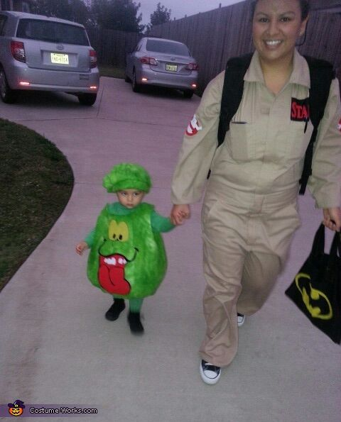 Ghostbusters and Slimer Costume - Halloween Costume Contest via @costume_works