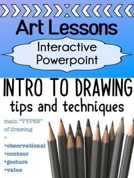 "This Powerpoint lesson is an introduction for high school students to learn how to draw. It covers all the different types of drawings - and teaches students about everything they need to know to start off a full drawing unit. It covers the following types - wth tips, techniques, and practices along the way: -""learning to see"" through a warm-up upside down drawing (has 2 options, one for"
