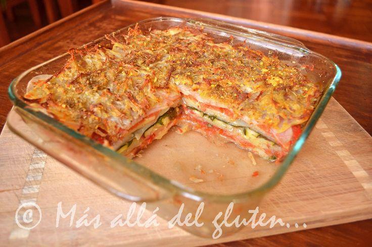 """Más allá del gluten y la lactosa...: """"Lasaña"""" de Papas y Verduras (Receta GFCFSF, Vegana)"""