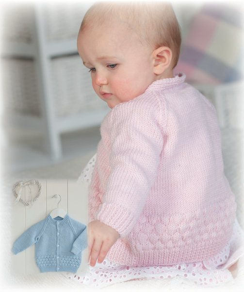 fc26f0e3e4dd Peter Pan Merino Baby DK Baby Cardigan Knitting Pattern 1161 PDF ...