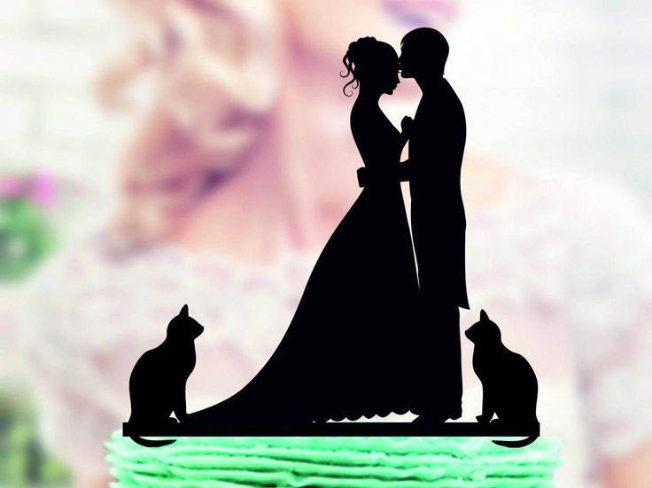 Hochzeitstorte Topper mit Katze, Silhouette Bräutigam und Braut, Acryl Cake Topper, Silhouette Cake Topper mit zwei Katzen, Familie Kuchen topper  Hallo. Vielen Dank für Ihren Besuch in meinem Shop - TopperForWedding Wir machen individuelle Topper für Hochzeitstorten. Wir fertigen einzigartige Topper für Sie oder für ein Geschenk für eine Hochzeit von Freunden, Geburtstag und andere Jubiläen.  ⇝⇝⇝ Hochzeit Topper ⇜⇜⇜ ► Topper, die alles, was wir auf Bestellung gemacht haben!!! ► Materialien…