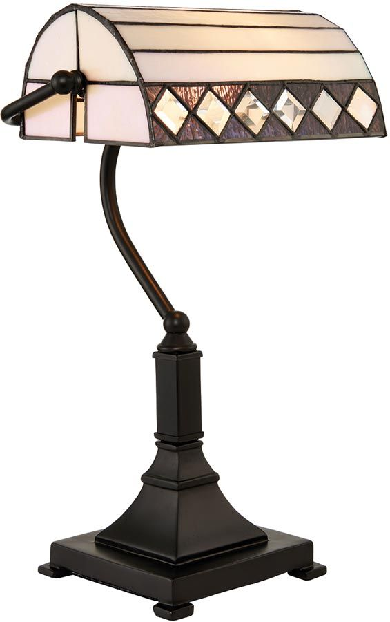 Fargo Tiffany Shade Art Deco Design Bankers lamp