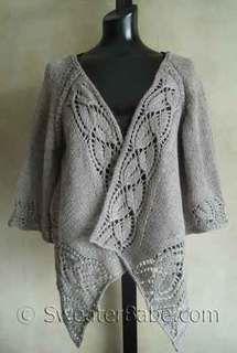 #112 Dramatic Lace Wrap (Top-Down) Cardigan PDF Knitting Pattern #knitting #SweaterBabe.com