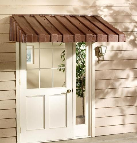 East Iowa Plastics C84BR Door Canopy, 84 in., Brown by East Iowa Plastics. $423.18. Design is stylish and innovative. Satisfaction Ensured.. Great Gift Idea.. Manufactured to the Highest Quality Available.. WEATHERBEST WINDOW AWNINGS & DOOR CANOPIES. Homeowners can add beauty and lasting value to their homes with easy-to-install WeatherBest Window Awnings and Door Canopies. These quality products reduce cooling costs and protect home interior finishes from fading. They...