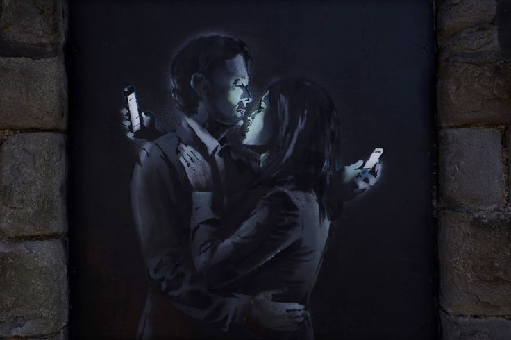 Mobile Lovers & Spy Booth – New Murals from Banksy