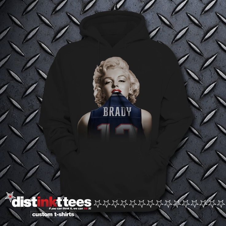 MARILYN TOM BRADY hoodie. One of a kind. ring spun cotton. direct to garment…
