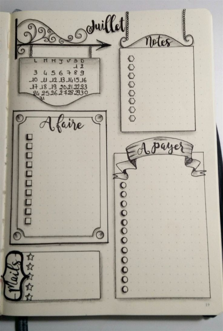 Source Gaëlle Auffret via le groupe FB Bullet Journal - Version française More
