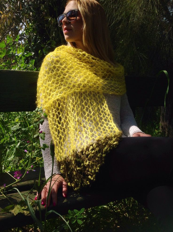 Knit Shawl for Spring/Summer by miCalorKnits on Etsy