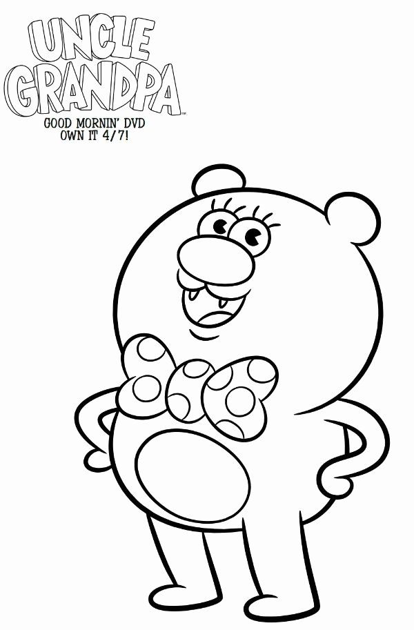 Uncle Grandpa Coloring Page Inspirational Free Cartoon ...