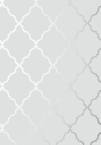 KLEIN TRELLIS, Silver on Grey, AT6057, Collection Seraphina from Anna French