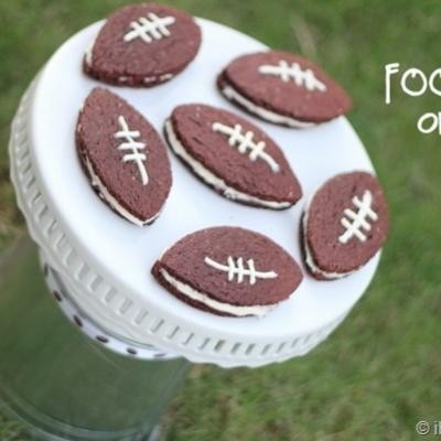 Homemade Football Oreos