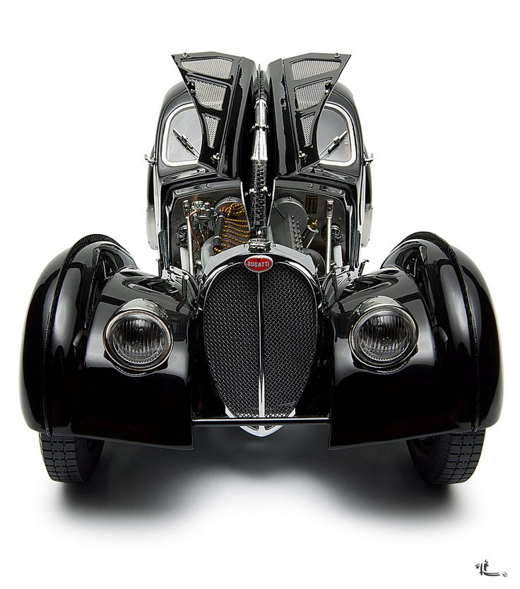 From an era when every element was functional art...1957 Bugatti type 57 SC Atlantic Coupe