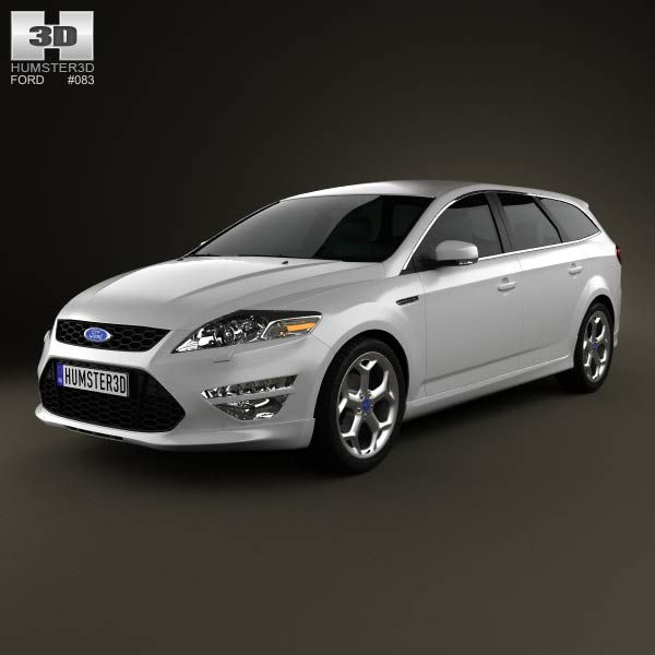 Ford Mondeo Turnier Titanium X Mk4 2012 3d model from humster3d.com. Price: $75