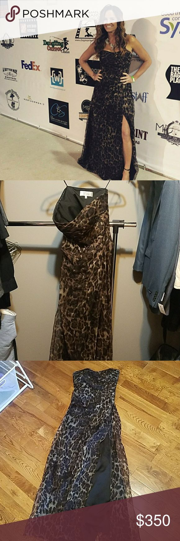 I just added this listing on Poshmark: Badgley Mischka Leopard silk gown. #shopmycloset #poshmark #fashion #shopping #style #forsale #Badgley Mischka #Dresses & Skirts
