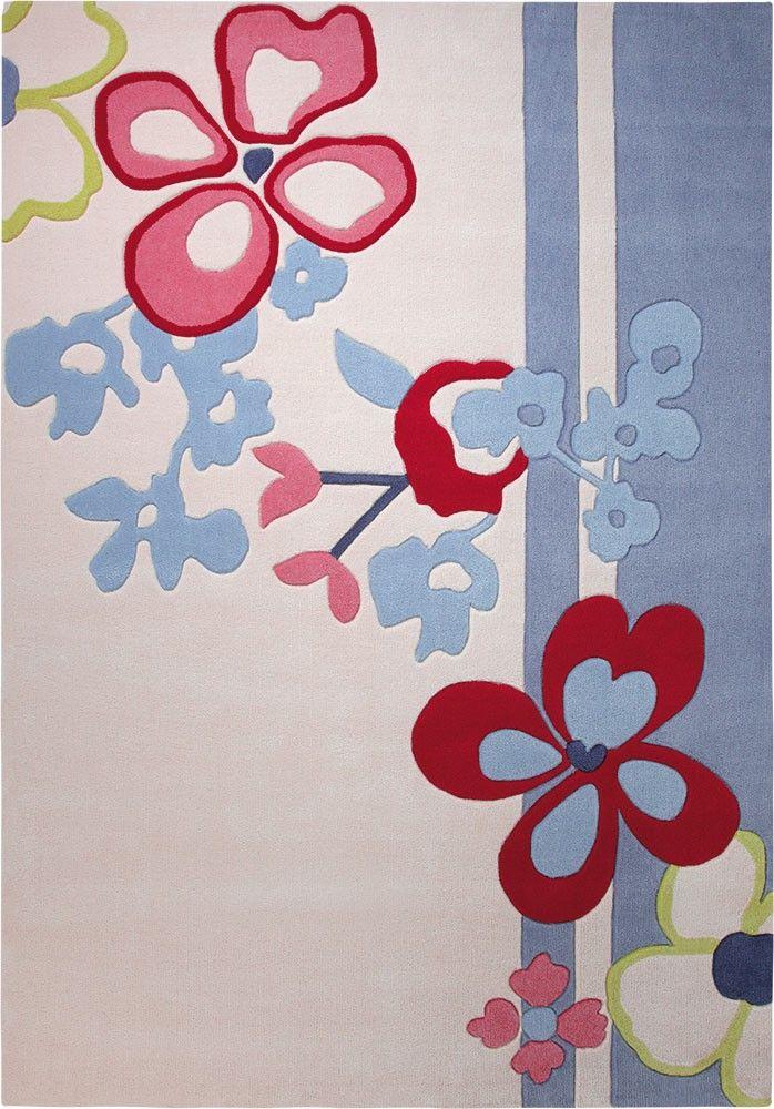 In traditionellen japanischen Blumengestecken werden Blüten wirkungsvoll arrangiert und in Szene gesetzt. So auch in diesem wunderschönen Teppich.