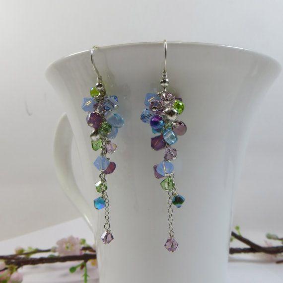 Swarovski Crystal Earrings Giverny Earrings by SLCDesignsUK