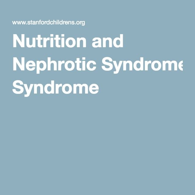 Nutrition and Nephrotic Syndrome