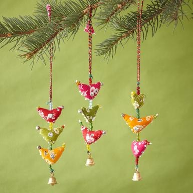 Little Birdies Ornaments, Set Of 3
