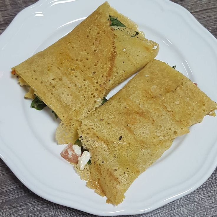 Socca wraps with feta cheese filling for #breakfast by lymphedemarabia