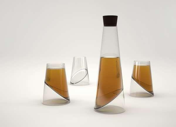 Vasiliy Butenko's Slice Glass Has a Sculptural Appeal #decanters trendhunter.com