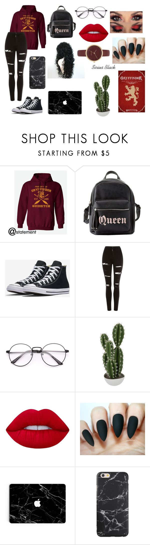 """RE-DONE Genderbent! Young Sirius Black"" by lilyscarrlettx on Polyvore featuring Charlotte Russe, Topshop, Abigail Ahern, Lime Crime and Nine West"