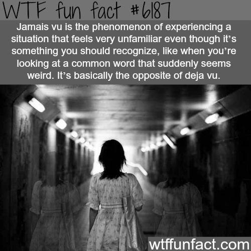 Jamais vu - WTF fun facts