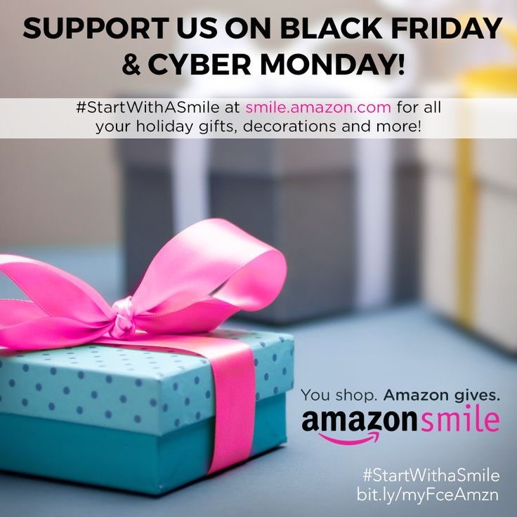 #StartWithASmile @ Smile.Amazon.com to support us while #shopping on #BlackFriday & #CyberMonday! All you have to do is pick myFace as your charity of choice and #amazon donates!