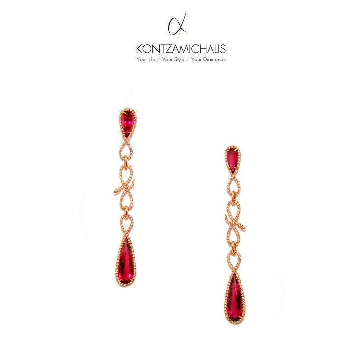 An exceptional connection between fine stones and high jewellery brings life to this precious set of earrings! #KontzamichalisJewellery