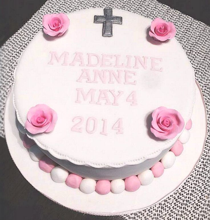 Traditional style simple christening cake by Michelle-Marie's Kitchen