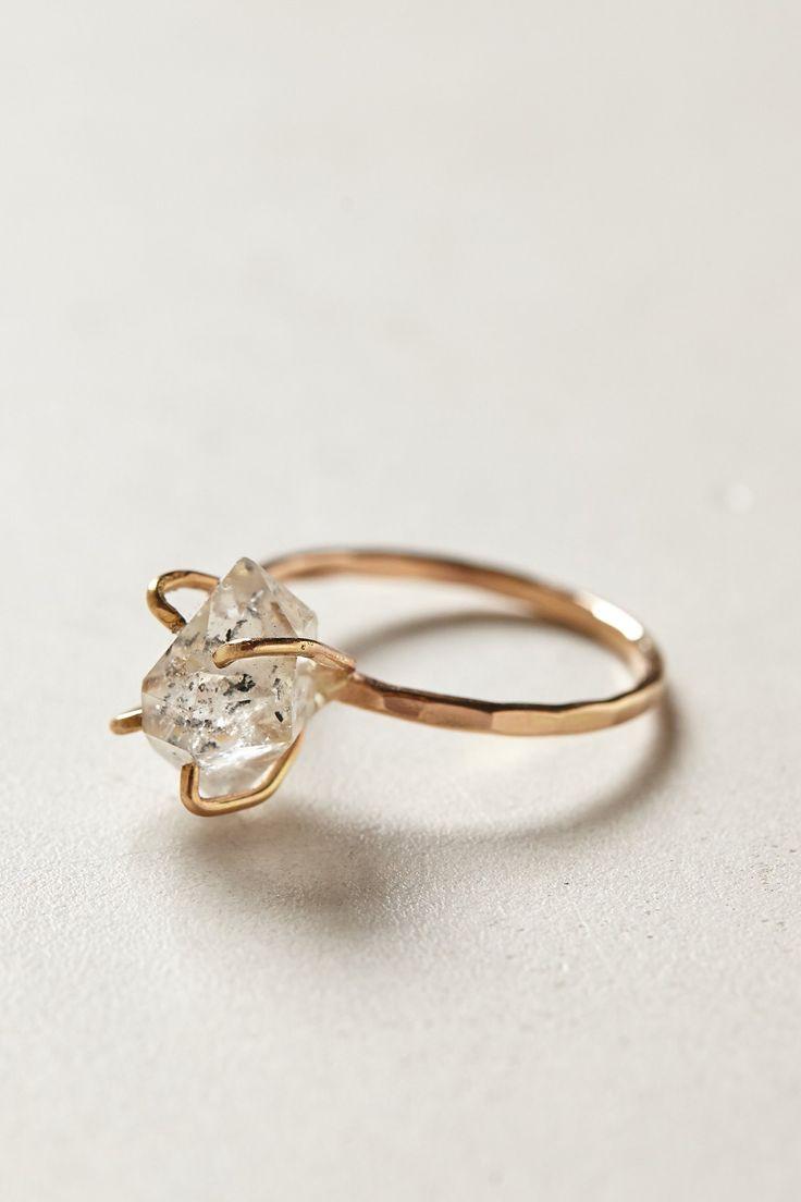Herkimer Diamond Ring - anthropologie.com