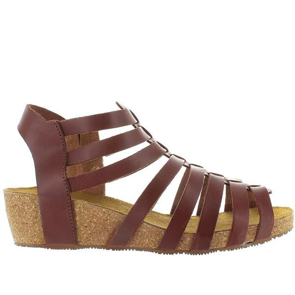Eric Michael Rose - Brown Leather Strappy Platform Wedge Sandal