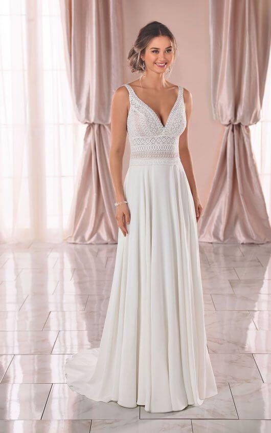 Geometrisches Boho Hochzeitskleid aus Spitze – Stella York Wedding Dresses