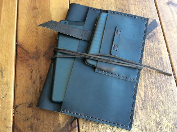 Pocket iPad case  leather ipad iPhone case  by LUSCIOUSLEATHERNYC, $115.00