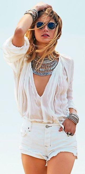 summer statement jewelry #boho #indigobleufashion #summer