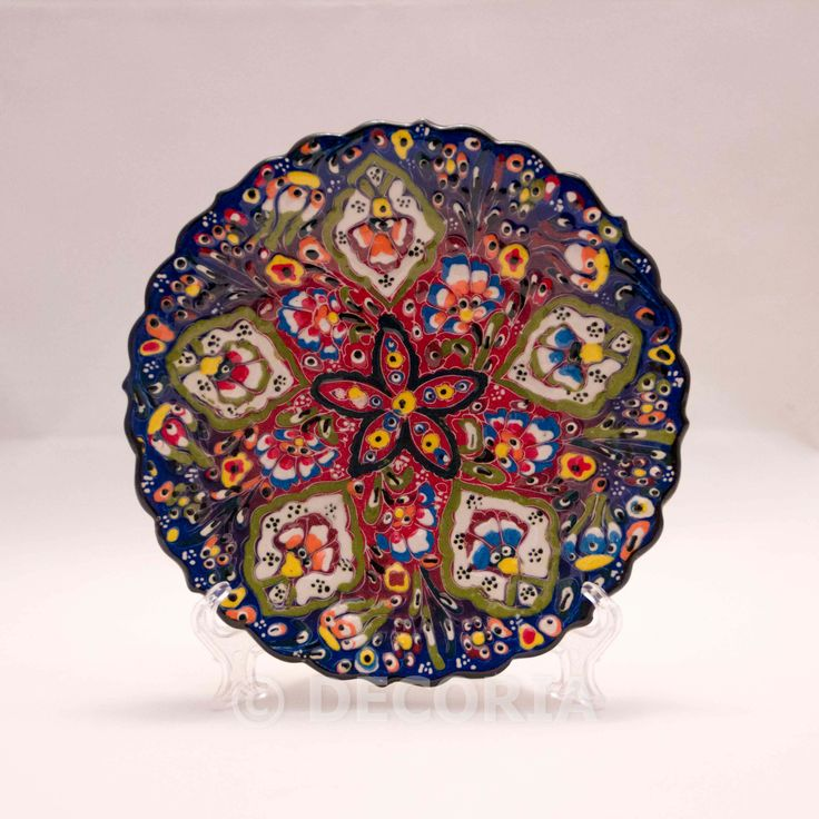 Small Plate - Blue & Red - DECORIA HOME & GIFT