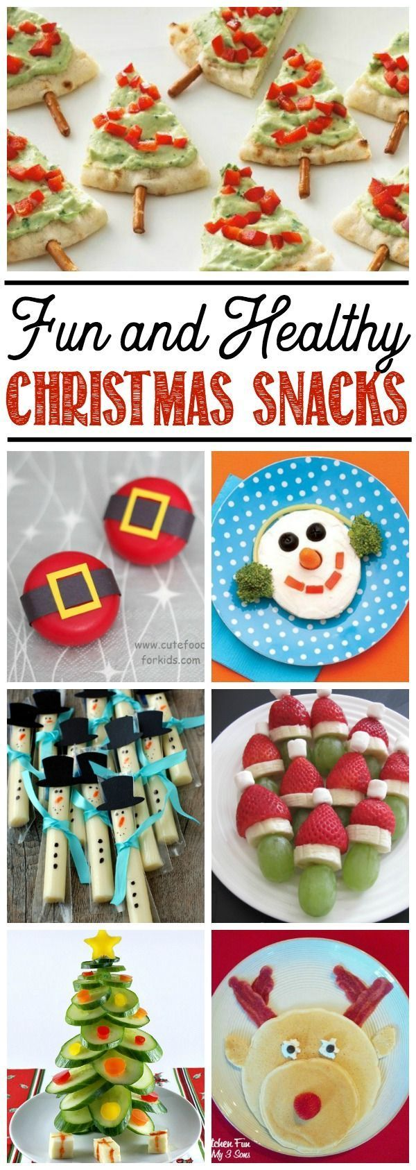 Fun and healthy Christmas snack ideas for kids!  Great for Christmas parties or class treats.