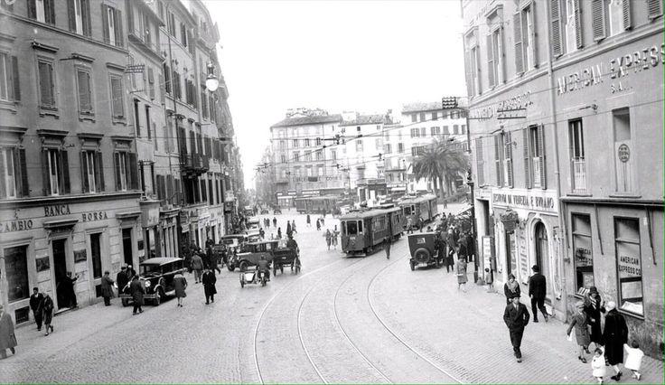 Piazza di Spagna (Archivio Atac, fine anni '20)