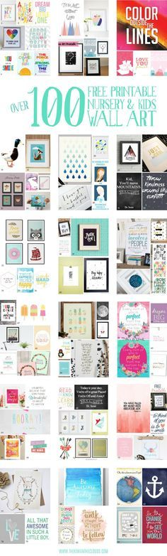 A gigantic guide to the best nursery and kids wall art printables. Pin for later to check them all out!