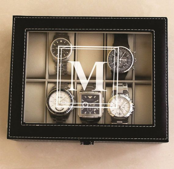 Personalized-Engraved Watch Storage Box. 10% OFF for Father's day, use code: SPRING10. #FathersDayMPM #groomsman #wedding #party @mypersmemories