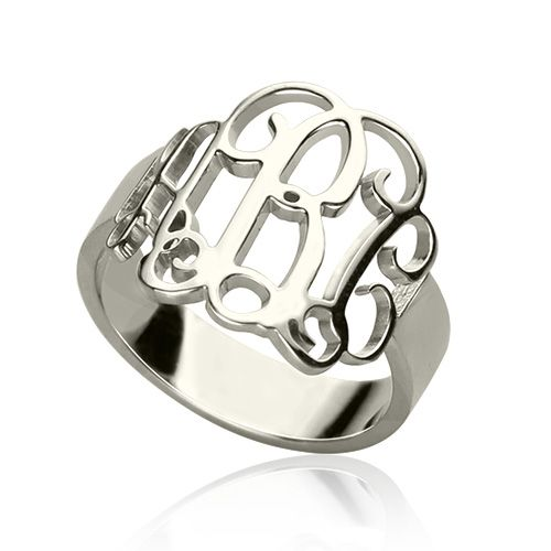 Handmade 1-3 initials monogram ring was cut out in great craft. Each one is unique and made especially for you, you can personalized any initials and letters on this initial ring. You will want wear this monogrammed ring everyday and it is a ring you must have!