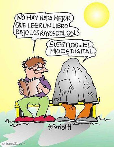 Libro vs tablet al sol...