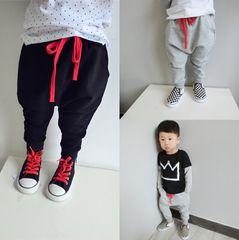 Малый детской одежды весной моделей плюс бархат шаровары ребенка мужские и женские зимние дети спортивные брюки большие PP штаны коллапс прилива