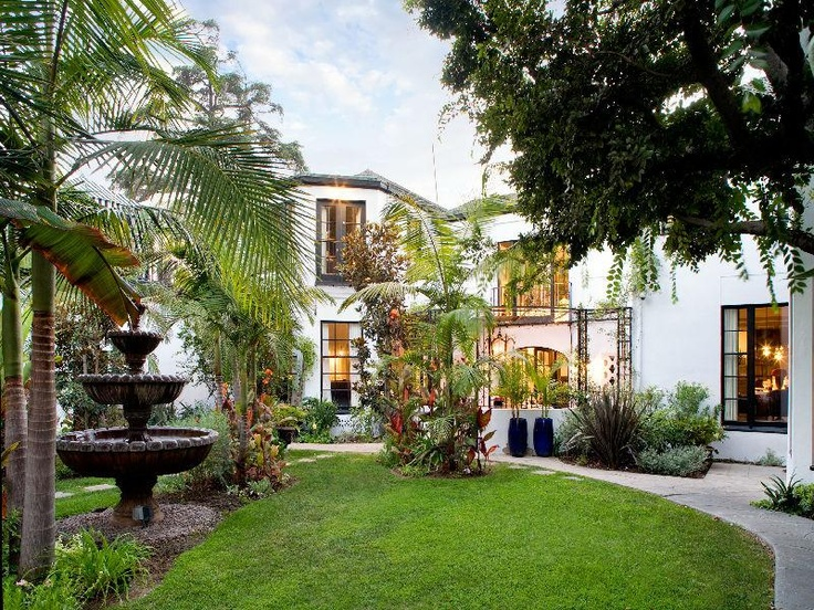 Spanish colonial style courtyard courtyard pinterest for Colonial landscape design