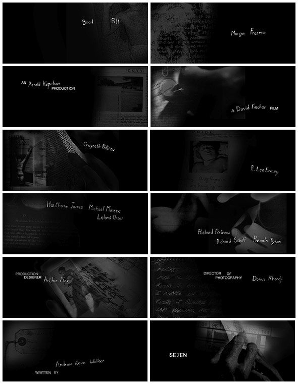 an analysis of the topic of the opening sequence of se7en Stephen frankfurt's opening title sequence for to kill a the making of to kill a mockingbird featuring interviews with producer alan j se7en interview a.