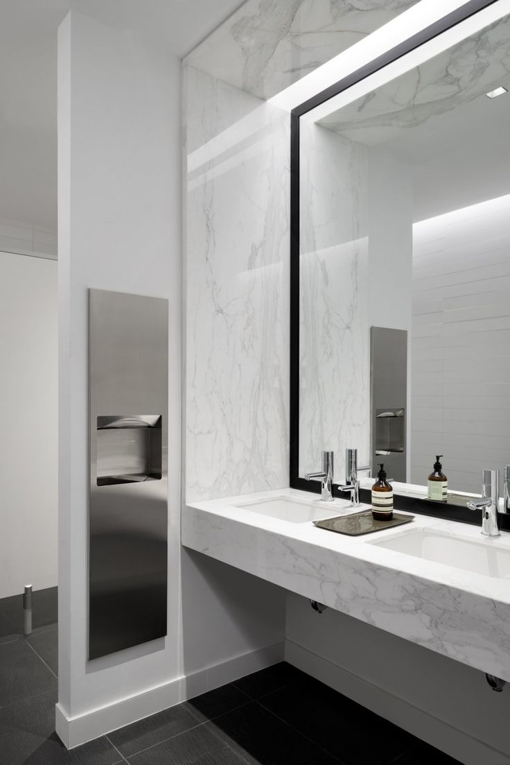 25 best ideas about office bathroom on pinterest for Office bathroom designs