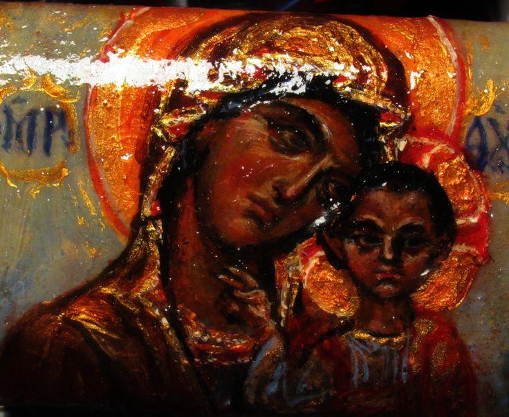 Most Holy Theotokos of Kazan, painting on box