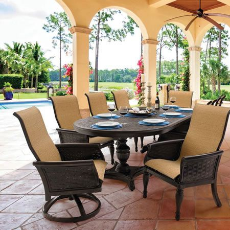 Find This Pin And More On Castelle Outdoor Furniture. Sling Dining In English  Garden ...