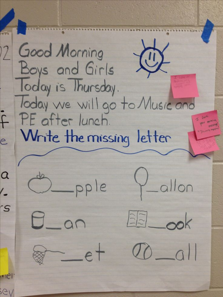 Preschool Morning Message Ideas | 33 best images about morni