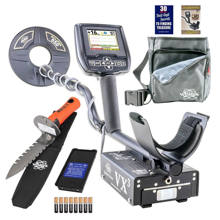Whites Spectra VX3 Metal Detector Diggers Special w/ DigMaster & Utility Pouch
