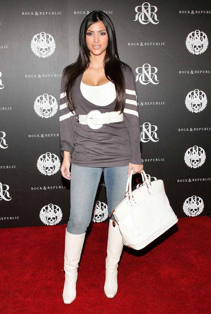 2006: Oversized Belts Fun fact: Kim Kardashian wore these a lot. Back when she still felt she needed clothing.